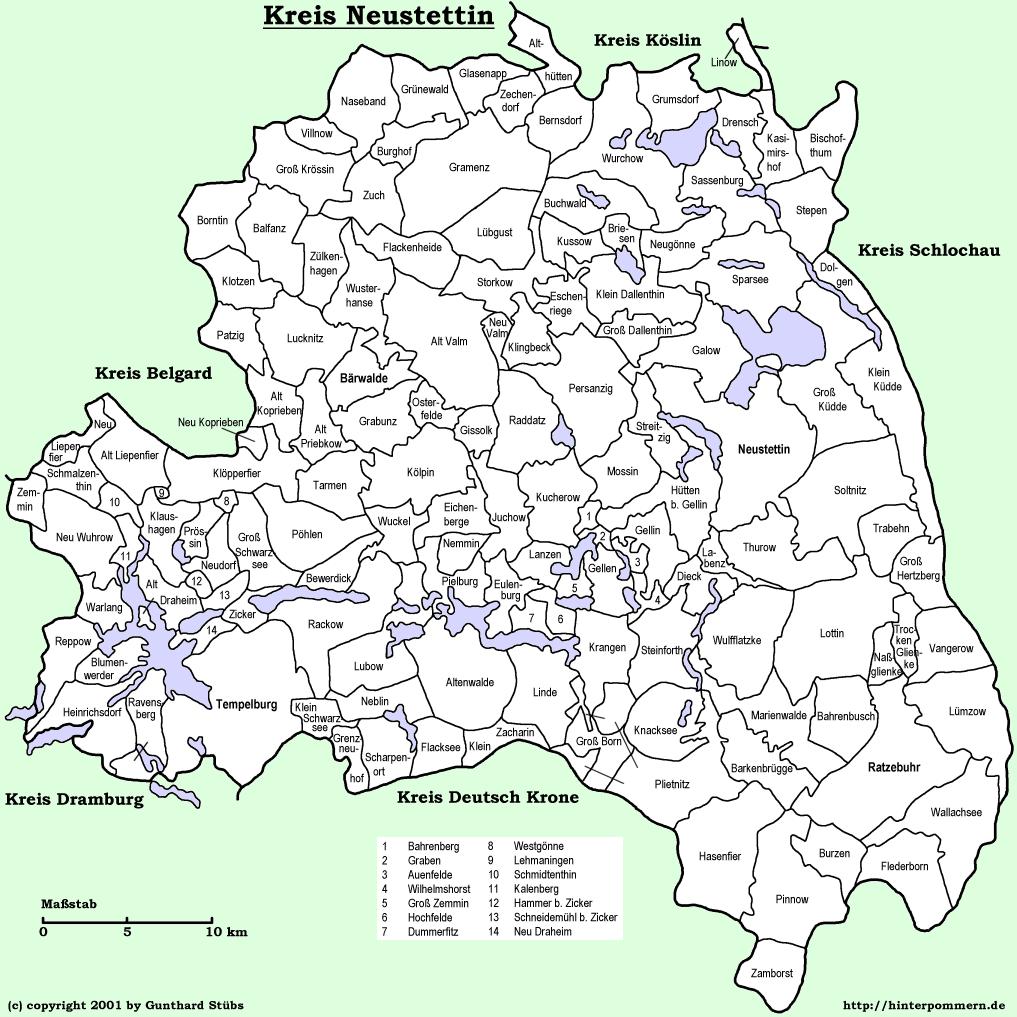 Kreis Neustettin My Pomerania German And Polish Genealogy